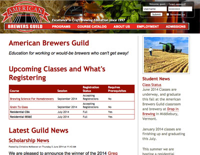 American Brewer's Guild: abgbrew.com